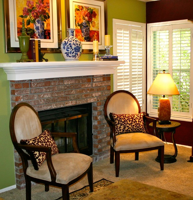 Fireplace Warmth traditional family room