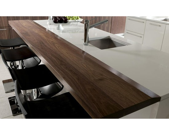 Walnut Counter and Bar. Design by John Troxell, Director of Design, Wood-Mode. - http://www.glumber.com/