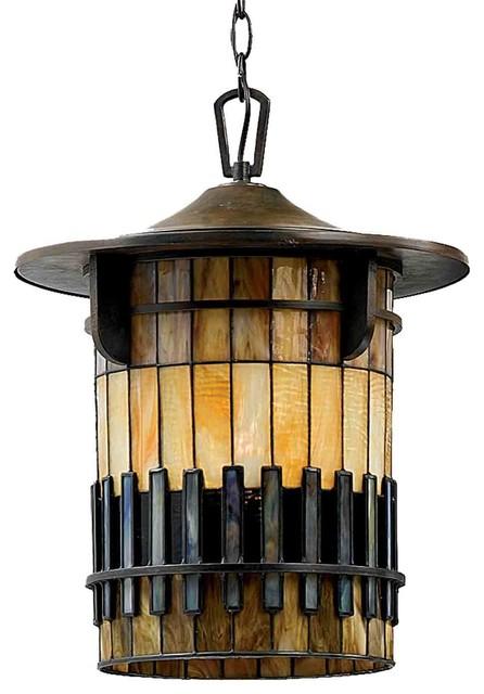 Quoizel tfar1915befl autumn ridge bergamo outdoor hanging for Houzz rustic lighting