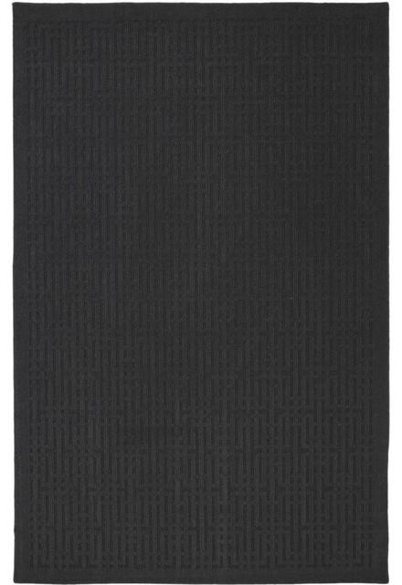 Mohawk Home Comforts Stacks Black Solid Hi/Low Pile Carved 1'8 x 2'10 Rug (6780) modern-rugs