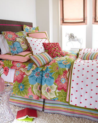 Dransfield & Ross Far Out Bed Linens Floral European Sham traditional-pillowcases-and-shams