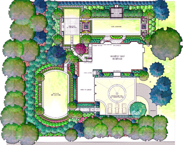 Design traditional site and landscape plan dc metro for The landscape design site