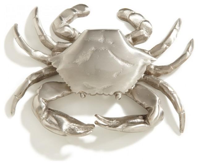 Crab Brass Door Knocker Brushed Nickel Eclectic Door
