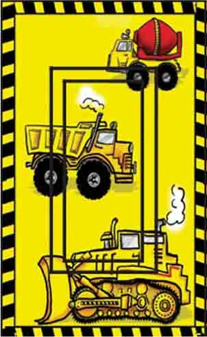 Construction Trucks Single Rocker Peel and Stick Switch Plate Cover traditional-wall-decals