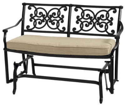 Amalfi Loveseat Glider - traditional - patio furniture and outdoor ...