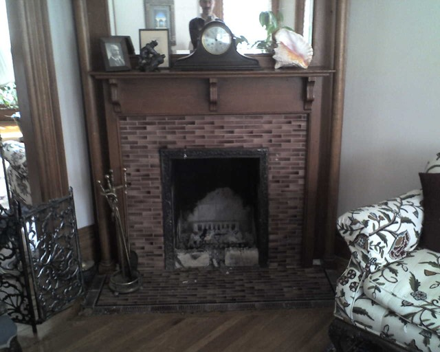 Victorian Fireplace Insert Gas Before Traditional Living Room Minneapolis By Woodland