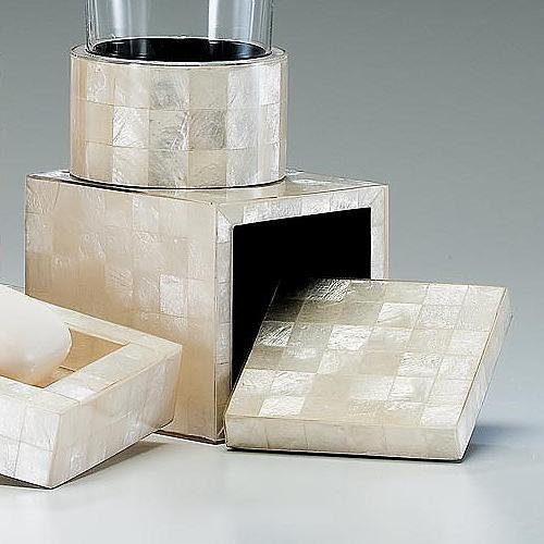 Capiz canister contemporary bathroom accessories by - Capiz shell bathroom accessories ...