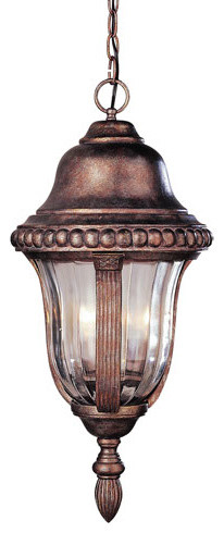 Braided Ribbed 30 Inch Hanging Four-Light Brown modern-outdoor-lighting