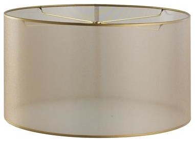 15 inch sheer elegance organza drum shade gold. Black Bedroom Furniture Sets. Home Design Ideas