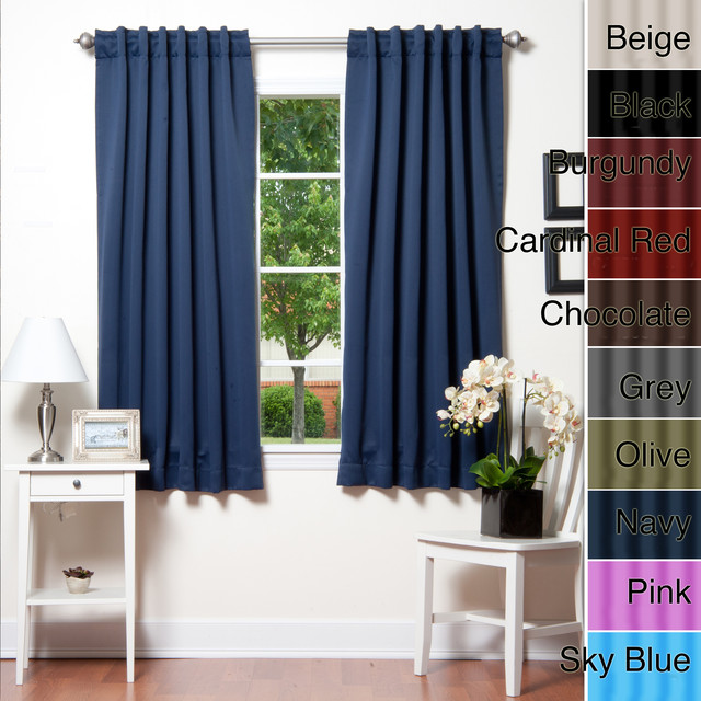 ... 72-inch Thermal Blackout Curtain Panel Pair contemporary-curtains