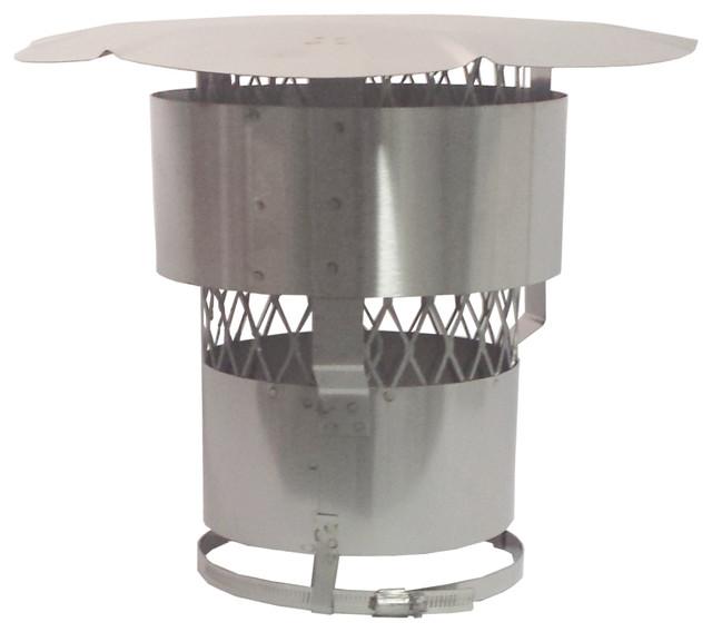 Stainless Steel Chimney Rain Cap Rockflex Round 7 Inch