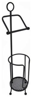 Wrought Iron Toilet Paper Holder with Extra Roll Storage traditional-toilet-accessories