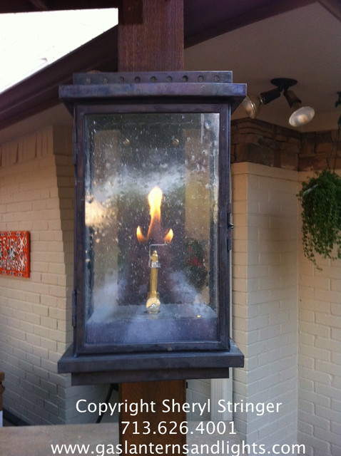Gas Lights Contemporary Outdoor Lighting Houston