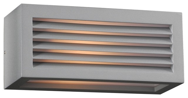 """Contemporary Madrid 10"""" Wide Silver Outdoor Wall Light contemporary-outdoor-lighting"""