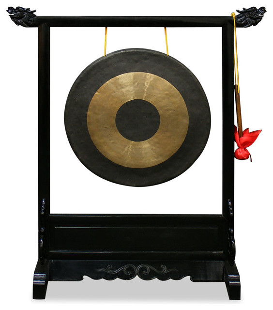 Gong Stand Designs : Brass gong with dragon stand asian home decor by