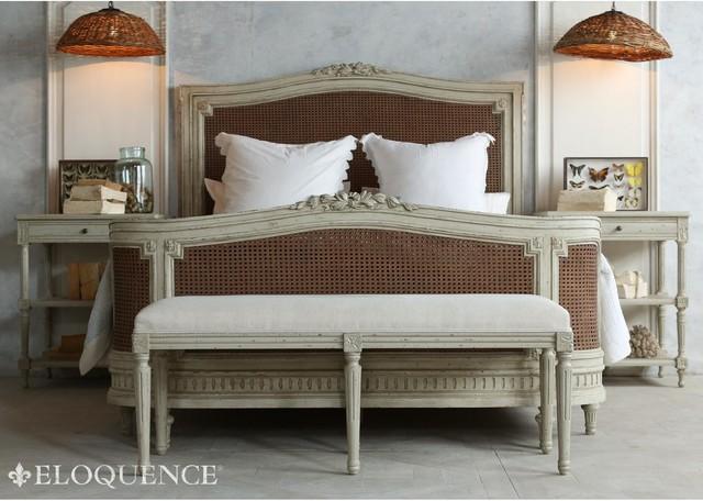 Eloquence Boudoir Bench - Duck Egg traditional-furniture