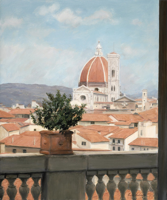 'Il Duomo View' Framed Oil Painting traditional-originals-and-limited-editions