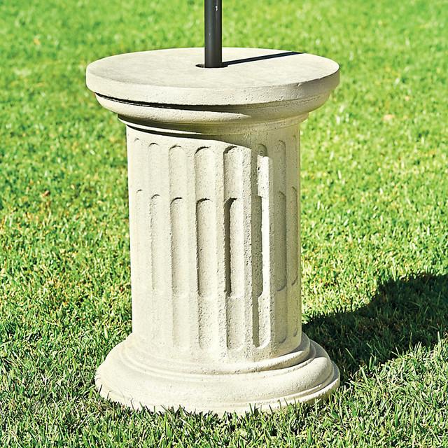 Umbrella Stand Designs : Santorini patio umbrella stand traditional outdoor