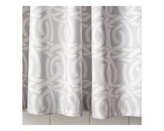 Serena & Lily - Highland Knot Shower Curtain  Dove Grey - Lifted from Serena 's sketchbook, this intricate pattern is her poetic take on a Celtic knot, in a chic combo of dove grey and white.