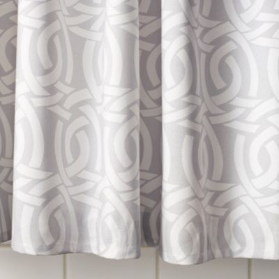 Highland Knot Shower Curtain  Dove Grey traditional-shower-curtains