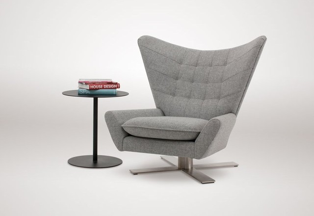 Louis ii chair with swivel base modern armchairs and for Modern swivel accent chair