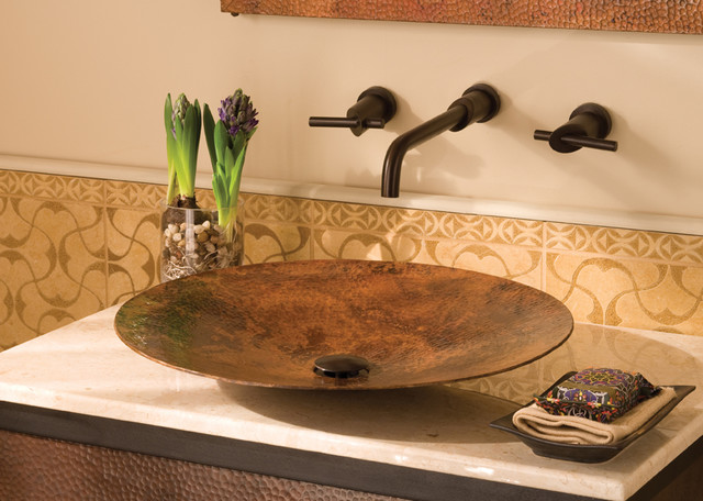 Maestro Mandala Copper Vessel Sink by Native Trails contemporary-bathroom-sinks