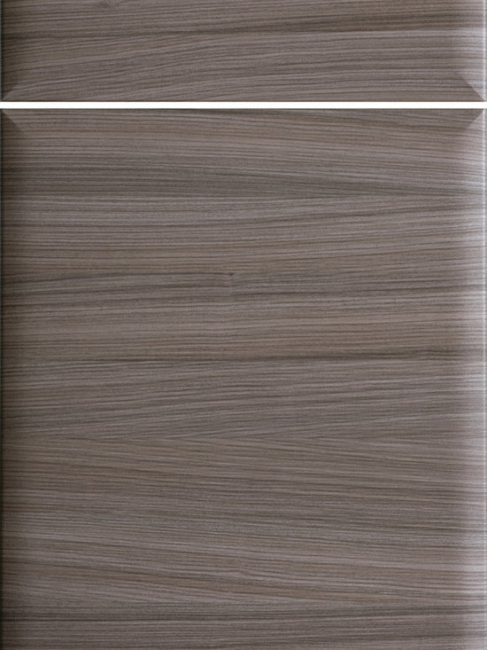 """Dura Supreme Cabinetry - Dura Supreme Cabinetry Icon - Horizontal Contemporary Cabinet Door Style - Dura Supreme Cabinetry """"Icon - Horizontal"""" contemporary cabinet door style in Textured Foil shown with Dura Supreme's """"Twig"""" foil finish."""