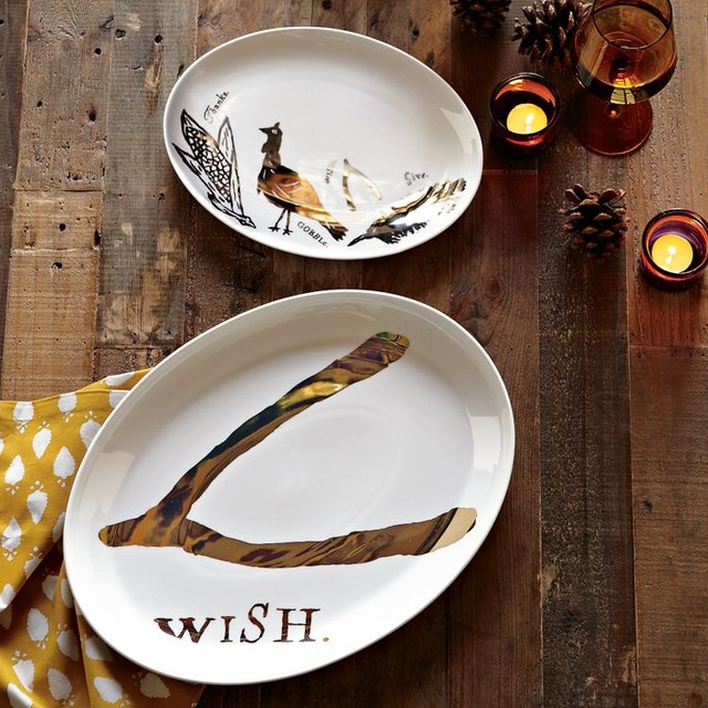 Thanksgiving Platters contemporary-serving-dishes-and-platters
