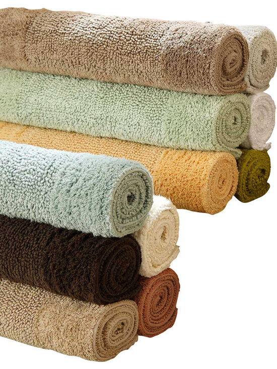 Luxor Linens - Anini Bath Rug, Large, Bonsai Green - Naturally anti-bacterial Bamboo meets cotton under your feet. Available in 10 soothing colors to match any bathroom decor, your feet will be happy every time you step out of the bath.