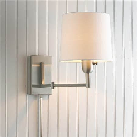 Wall Lights Lampshades : Definitively Modern Swing-Arm Wall Lamp - Modern - Swing Arm Wall Lamps - by Shades of Light