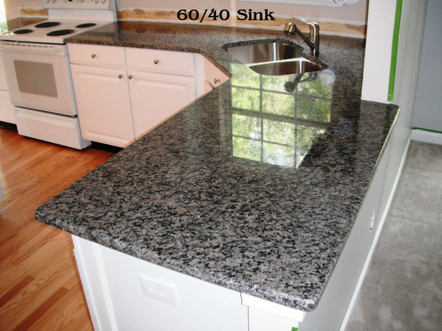 Caledonia Granite for White Cabinets - Traditional - Kitchen - charlotte - by Fireplace ...