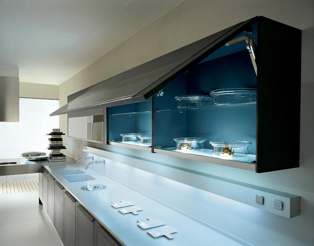 Pedini Integra Grey Oak Modern Kitchen Cabinetry