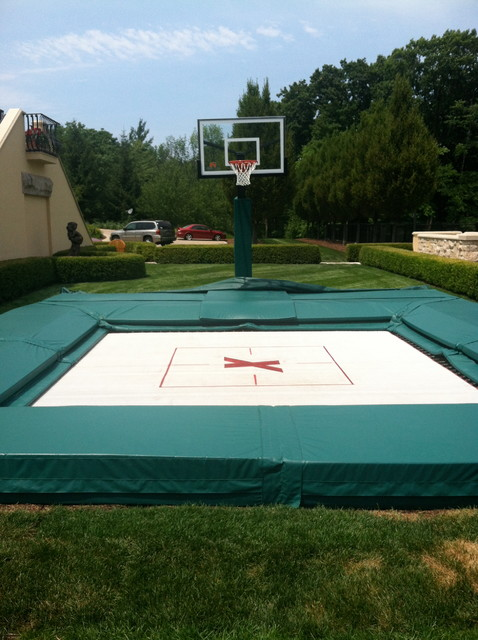 in ground trampoline with basketball hoop. Black Bedroom Furniture Sets. Home Design Ideas