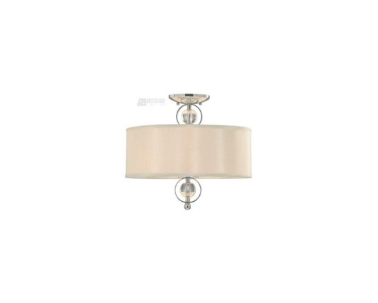 Cream nickel transitional ceiling light - http://shop.southshoredecorating.com/GDL-1030-SF-CH