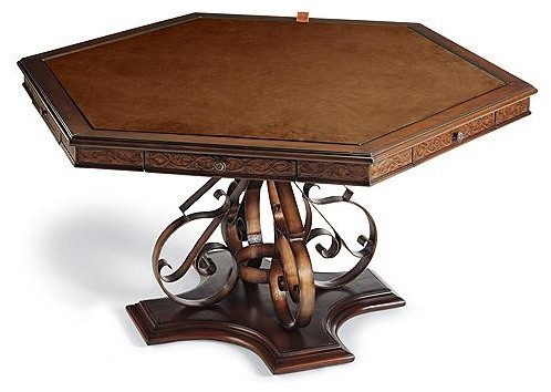Saratoga Game Table traditional-indoor-pub-and-bistro-tables