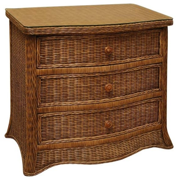 Roma drawer wicker chest tropical furniture by