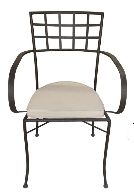 Powder coated wrought iron chair for garden and patio outdoor-chairs