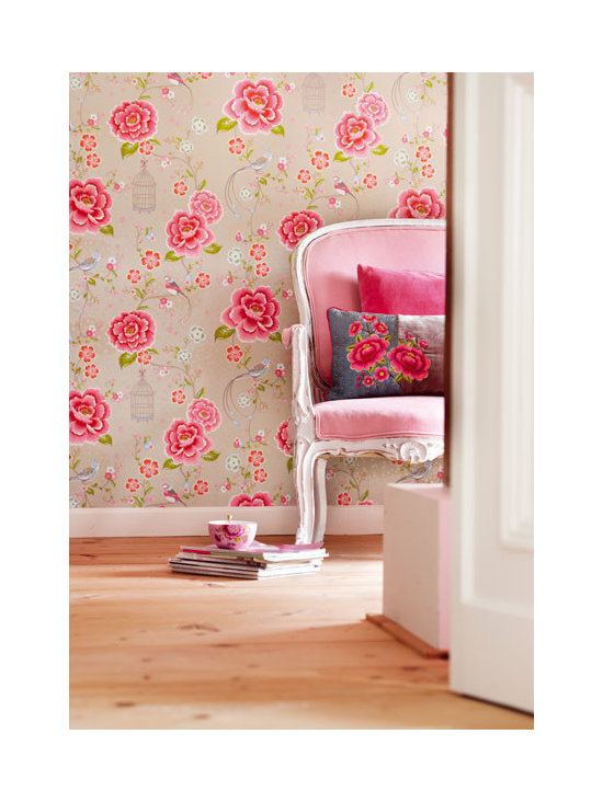 Floral Wallpaper - a luscious bird and floral wallpaper by Eijffinger available from Brewster Home Fashions