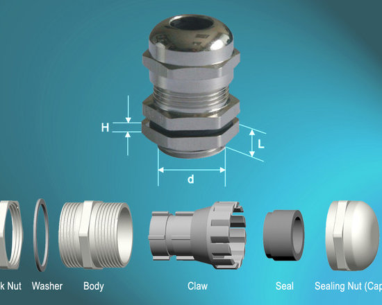 Brass Cable Glands(Metric-L) - SPECIFICATIONS