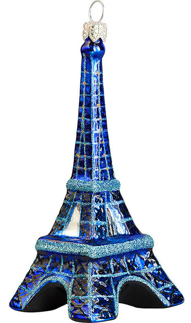 Eiffel tower at night version christmas ornament for Eiffel tower decorations for the home