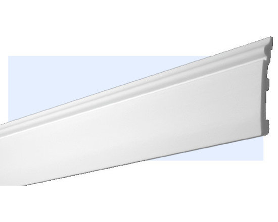 "Inviting Home - Marietta Baseboard - Marietta baseboard molding; shock resistant baseboard - 20% stronger then pine wood 4-6/8""H x 5/8""P x 8'00""L baseboard sold in 8 foot length 4 piece minimum order required molding specifications: Outstanding quality baseboard manufactured out of unique High Definition Polymer System (HDPS) environmentally friendly material is hypoallergenic and fully recyclable no CFC no PVC no formaldehydes - shock resistant - 20% stronger than pine wood - molding is humidity resistant - maximum long term protection against scratches and dents - this molding is ideal for high traffic areas and commercial applications such as clubhouses lobbies and exercise rooms - hypoallergenic and fully recyclable - molding is pre-primed with water-based white paint to allow perfection in painting process - molding has tough extremely smooth surface - back of the molding is fluted for better adhesion - this molding is lightweight and easy to install"