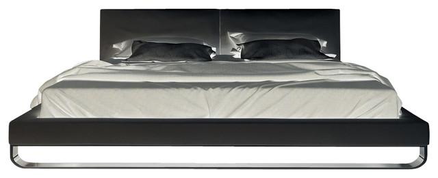 Modloft Chelsea Platform Bed In White Leather California