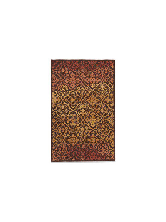 Grandin Road - Tria Indoor Area Rug - Hand-tufted indoor area rug with colorations of brown, caramel, and rust. Elaborate diamond motif spans the entire surface. Skillfully hand-tufted of naturally durable wool with a cotton backing. Nonslip Rug Grips sold separately. Get things rolling on an easy room makeover by beginning with our Tria Indoor Area Rug. Introduce furniture pieces that complement – or even smartly contrast with – the variegated earth tones, add a few carefully selected accents, and voilà. You'll see your space in a whole new light. But Tria's all-over pattern of varying, gracefully embellished diamond shapes is just as comfortable an addition when enhancing your existing decor.  .  .  .  . Imported.