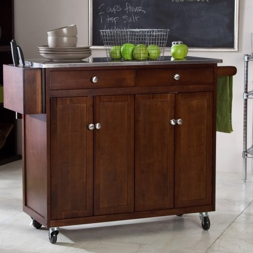 finley home the espresso kitchen cart contemporary origami folding kitchen island cart black kitchen