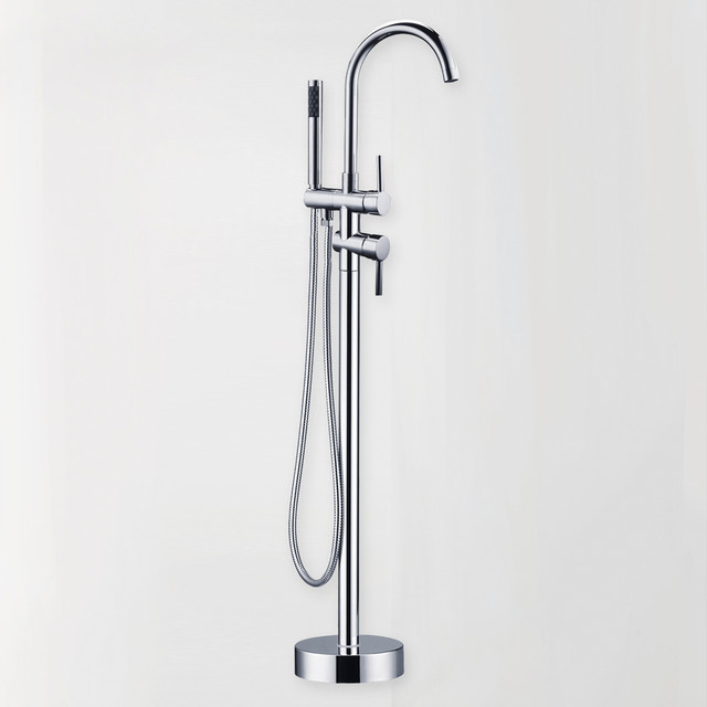 modern free standing bath filler faucet modern bathroom faucets and