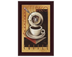 Americana Deco Coffee Canvas Wall Art by Michael Kungl - 26.38W x 40.38H in. modern artwork