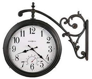 Howard Miller Luis Double-Sided Indoor/Outdoor Hanging Wall Clock traditional clocks