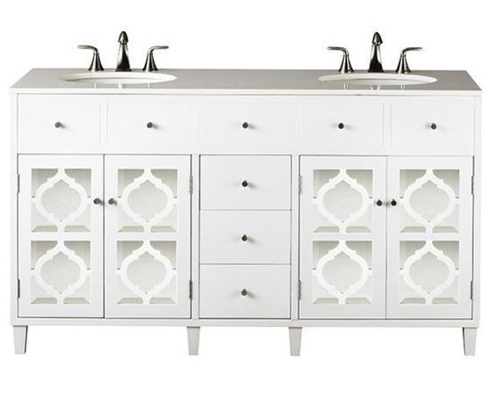 Reflections Double Vanity, White -