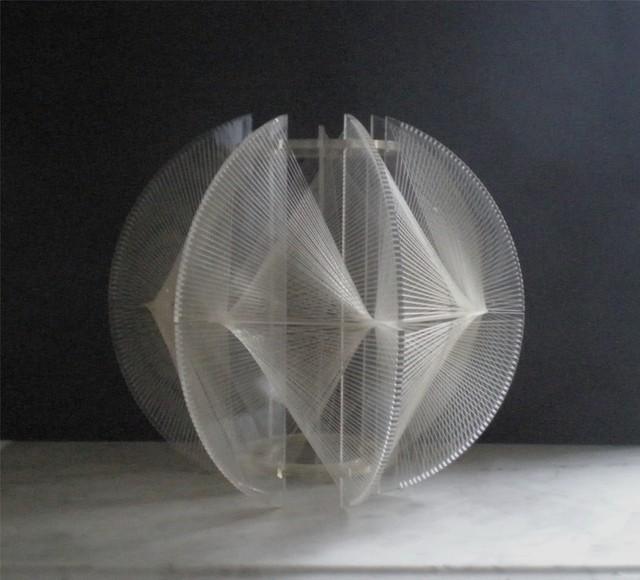 Mid Century Modern Lucite String Shade Modern Lighting
