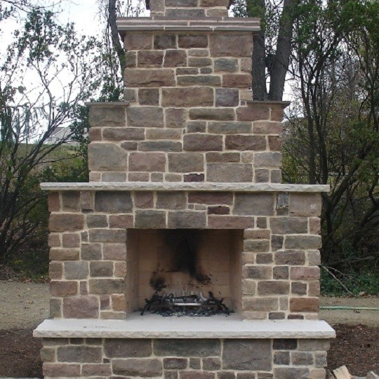 Outdoor fireplace traditional patio birmingham by for Firerock fireplaces
